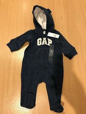 £18.99 • Buy Brand New Baby Gap All In One Sherpa Hoodie Navy 0-3 Months Free Delivery