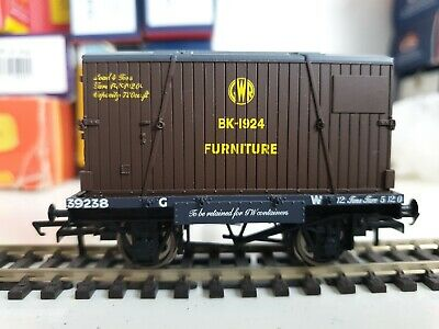 Hornby Gw Conflat 39238 With Gwr  Furniture Container Bk 1924 • 6.82£
