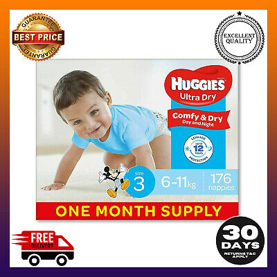 AU77.99 • Buy Huggies  Nappies, Boys Size 3 Crawler 6-11kg 176