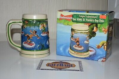 $ CDN13.33 • Buy Budweiser 2000 St. Patrick's Day Stein With Box And COA