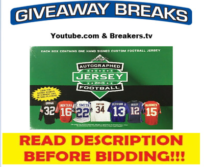 $5.99 • Buy Pittsburgh Steelers 2019 Leaf Autographed Football Jersey Live Box Break #24