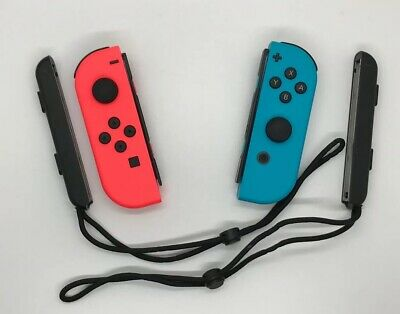$49 • Buy Nintendo Switch Joy Con Controllers - Neon Red Neon Blue (Authentic)
