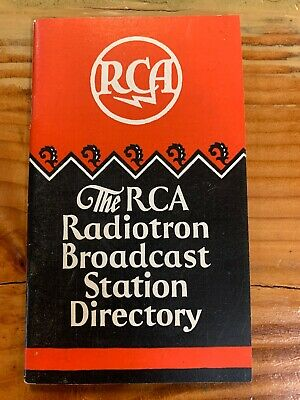 $11.80 • Buy The RCA Radiotron Broadcast Station Directory-1929