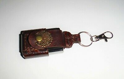 $10 • Buy New Handmade Cow Leather Key Chain Lighter Brown Pouch For Zippo Size Lighters