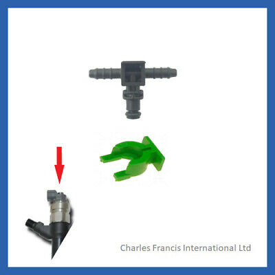 For Citroen Relay Fuel Leak Off Return Pipe Connector + Clip • 10£