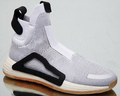 AU283.67 • Buy Adidas N3xt L3v3l Mens Off White High Top Geometric Basketball Sneakers F36272