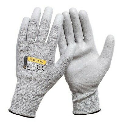 £3.99 • Buy Pu Anti Cut Resistant Work Safety Gloves Builders Grip Protection Level 5