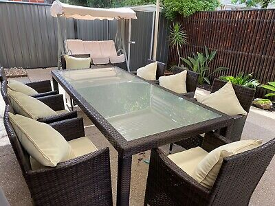 AU500 • Buy Outdoor Wicker Dining Setting 8 Seater