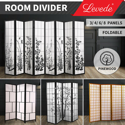 AU82.99 • Buy Levede Room Divider Screen 3/4/6/8 Panel Privacy Wooden Dividers Timber Stand