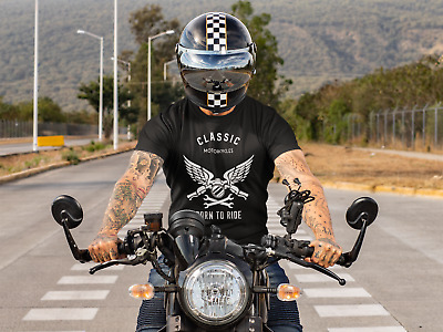 Born To Ride Cool Motorcycle T-shirt • 14.49£