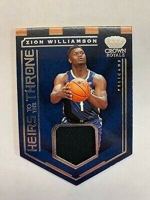 $40 • Buy 2019-20 Panini Crown Royale Zion Williamson Rookie Jersey Relic Diecut Pelicans