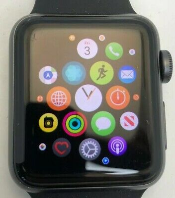 $ CDN252.43 • Buy Apple Watch Series 3 38mm Space Gray GPS & Cellular Smartwatch Bluetooth AT&T