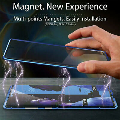 AU21.88 • Buy 360° Magnetic Case For Samsung Note 10+ Plus S10e S9 Double Sided Tempered Glass