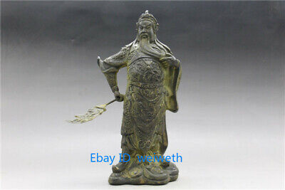 $ CDN78.96 • Buy Old 9 Inch Bronze Antiques Handwork Carved Guan Gong Statue W Qianlong Mark