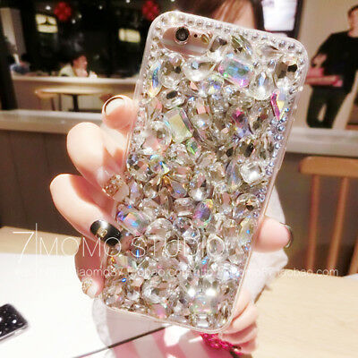 Vogue Girl 3D Bling Crystal Diamond Phone Case Cover For IPhone X 8 Plus Samsung • 9.72£