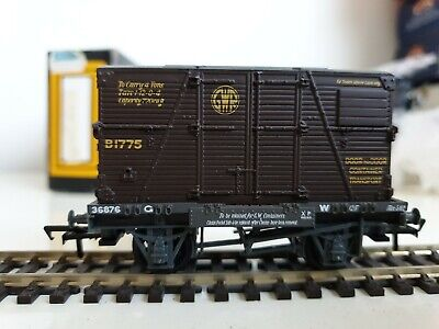 Bachmann 33-329 Gw Conflat 36876 With Gwr  B Container B1775 In Original Box • 3£