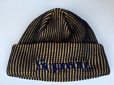 $ CDN70 • Buy SUPREME GOLD & BLACK Authentic &Exclusive BEANIE (Made In Canada) RN101837