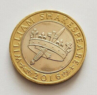 2016 William Shakespeare Histories Sword Crown £2 Coin  • 3.49£