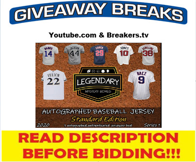 $5.99 • Buy St. Louis Cardinals 2020 Legendary Signed Baseball Jersey Live Box Break #3