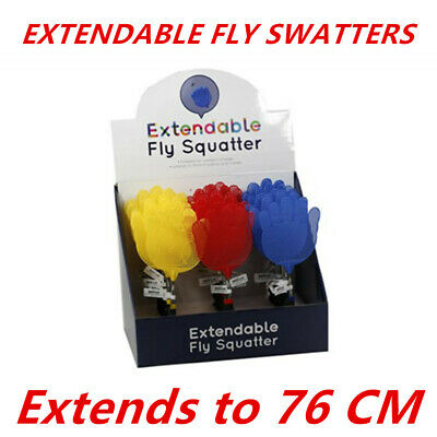 AU4.99 • Buy Extendable Handle Telescopic Insect Fly Swat Swatter Mosquito 76 Cm Extends