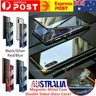 AU20.99 • Buy For Samsung Galaxy Note 10 Plus 360° Magnetic Adsorption Full Glass Case Cover