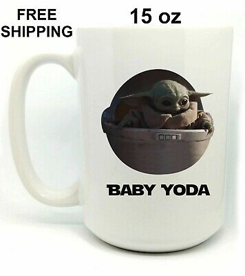 $16.99 • Buy Baby Yoda, Birthday, Christmas Gift, White Mug 15 Oz, Coffee/Tea