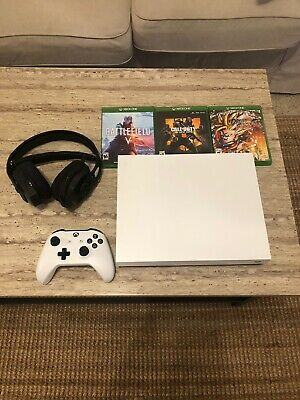 $255 • Buy Xbox One X 1TB Robot White W/ 4 Games & Headset