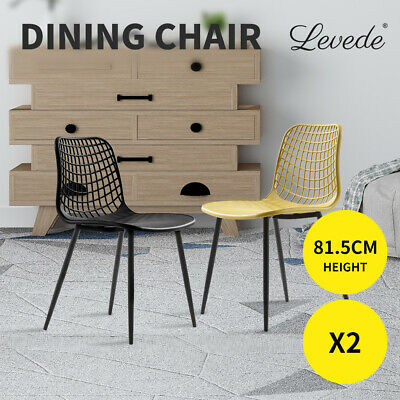 AU129.99 • Buy Levede Dining Chairs Chair Living Room Outdoor Furniture Seat Banquet Metal X2