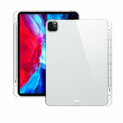 AU22.04 • Buy For Apple IPad Pro 11 & 12.9 Inch 2020 Transparent TPU Cover Case With Pen Slot