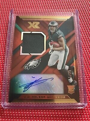 $0.99 • Buy 15/25 Jj Arcega-whiteside Rc Auto 2019 Xr Red Holo Eagles Jersey Patch Autograph