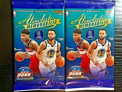 $19.99 • Buy 2019-20 Absolute Memorabilia Pack Rookie RC Zion Williamson HOT LOT OF TWO (2)
