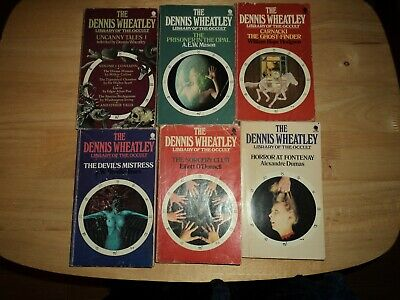 @@ Joblot Of 5 Vintage Dennis Wheatley Library Of The Occult P/back Books Good @ • 36.99£