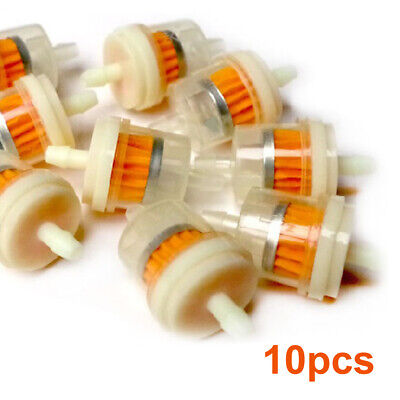 $ CDN4.26 • Buy 10* Universal Inline Gas /Fuel Filter 6MM-7MM 1/4  For Lawn Mower Small Engine