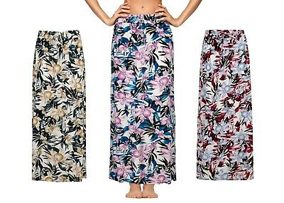 £7.95 • Buy Ladies Womens Skirt Long Maxi Cotton Spring Summer Gypsy Floral Size Lounge New