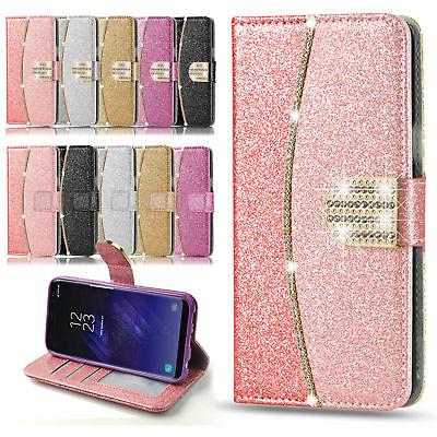 $ CDN11.65 • Buy Bling Glitter Leather Case Magnetic Flip Wallet Cover For IPhone Samsung Galaxy
