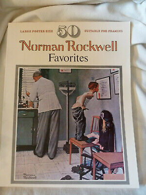 $ CDN28.53 • Buy 1977 50 Norman Rockwell Favorites Poster Size Suitable For Framing Artabras Book