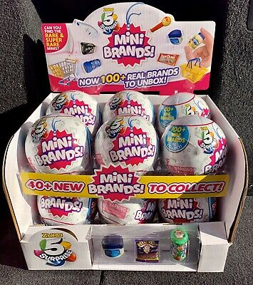 $ CDN162.51 • Buy 5 Surprise MINI BRANDS Zuru Full Case Of 12 Balls W/ Display Box NEW
