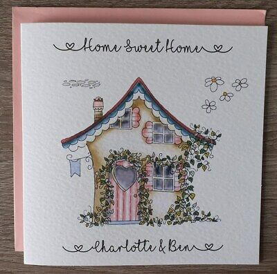 Handmade Personalised 6  Square New Home Card • 3.99£