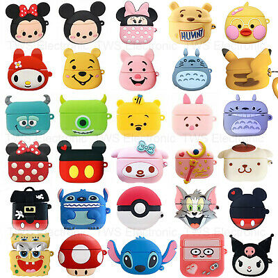 $ CDN6.69 • Buy For Apple Airpods Pro 3 Charging Case Cute Disney Minnie Cartoon Silicone Covers