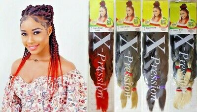 XPRESSION LAGOS BRAID Pre-Pulled Hair Extension(36″ & 44″)Pack Various Colours  • 5.49£