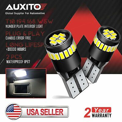 $8.99 • Buy 2X AUXITO T10 194 168 W5W LED Interior License Plate Light Bulb HID White CANBUS