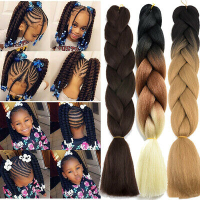UK Ombre Jumbo Braiding Hair Extensions Xpression Crochet Twist Braids For Women • 5.72£