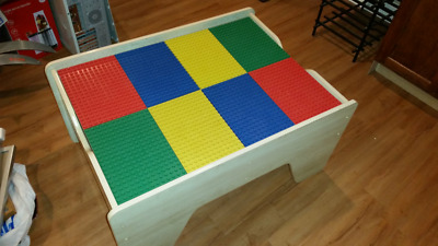 £165.46 • Buy Lego Wood Table-kids Toddler Play Activity Removeable/reversible Plates &storage