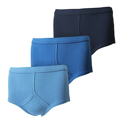 Men's Y Fronts Traditional 100% Soft Cotton Underwear Briefs Pants - Blue • 6.95£