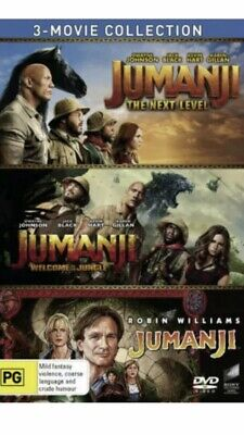 AU25 • Buy Jumanji 3 Movie Collection BRAND NEW R4 DVD