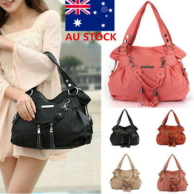 AU21.80 • Buy AU Women PU Leather Tassel Handbag Shoulder Bag Lady Shopper Messenger Crossbody