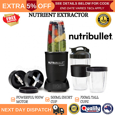 AU150.97 • Buy Nutribullet 900W Nutrition Extractor Smoothie Maker Mix Vegetable Juicer Blender