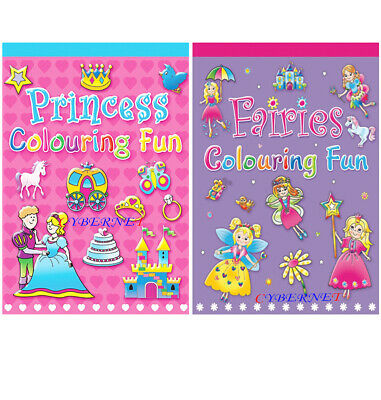 Amazing Childrens Kids Girls A5 Colouring Books Book 64 Pages Fairies Princess • 3.49£