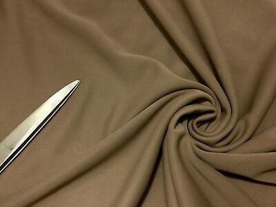 £6.35 • Buy One Way Stretch Thick Heavy Jersey Taupe Dress/Craft/Cushion Fabric Material