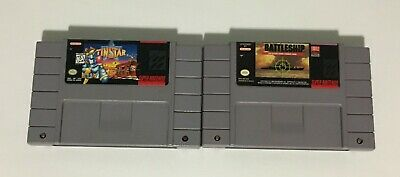$ CDN19.99 • Buy Lot Of 2 Super Nintendo SNES Games - Tin Star & Super Battleship - Tested